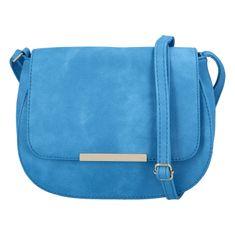 Tessra Milano Elegantná dámska koženková kabelka Sandrina, modrá