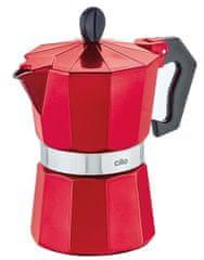 Cilio Varič na espresso CLASSICO 3 šálky metalická červená