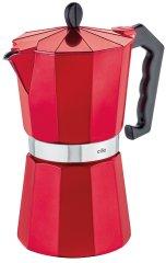 Cilio Varič na espresso CLASSICO 9 šálok metalická červená