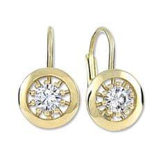 Brilio Zlaté kulaté náušnice s čirými krystaly 236 001 01045
