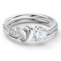 Swarovski Luxusní prsten s krystaly Lifelong Heart 5535