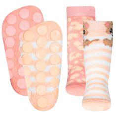 EWERS 2pack dívčích protiskluzových ponožek s ABS 225061