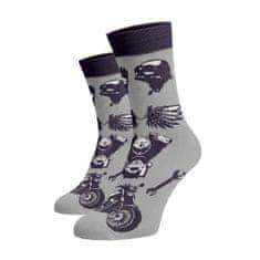 BENAMI Veselé motorkářské ponožky Šedá Bavlna 35-38