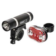 Emos LED přední + zadní svítilna na kolo P3920 na 5x AAA, 150 lm
