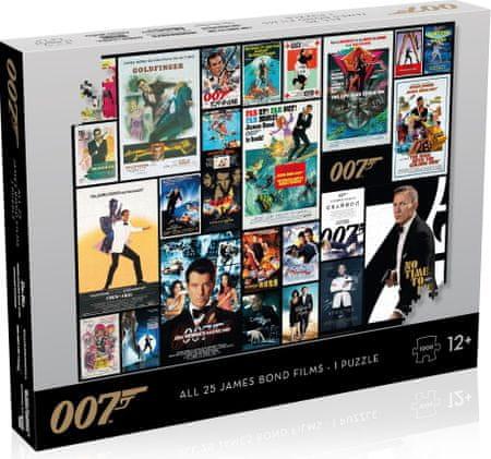 Winning Moves Puzzle James Bond 007 Movie poszter, 1000 részes