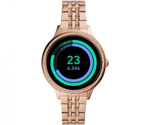 Chytré hodinky Fossil FTW6073 Gen 5E Smartwatch digitální zobrazení času certifikace voděodolnost 3 ATM notifikace z telefonu zvedání hovorů měření tepu krokoměr sledování fyzické aktivity Android iOS dlouhá výdrž baterie smartwatch Wear OS Google Fit AMOLED displej Gorilla Glass monitoring spánku přehled sportovních aktivit