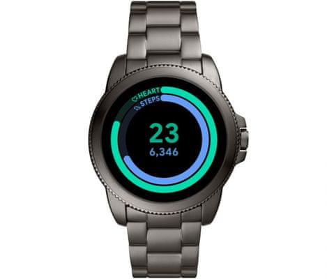 Chytré hodinky Fossil FTW4049 Gen 5E Smartwatch digitální zobrazení času certifikace voděodolnost 3 ATM notifikace z telefonu zvedání hovorů měření tepu krokoměr sledování fyzické aktivity Android iOS dlouhá výdrž baterie smartwatch Wear OS Google Fit AMOLED displej Gorilla Glass monitoring spánku přehled sportovních aktivit