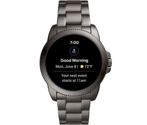 Chytré hodinky Fossil FTW4049 Gen 5E Smartwatch digitální zobrazení času certifikace voděodolnost 3 ATM notifikace z telefonu zvedání hovorů měření tepu krokoměr sledování fyzické aktivity Android iOS dlouhá výdrž baterie smartwatch Wear OS Google Fit AMOLED displej Gorilla Glass monitoring spánku přehled sportovních aktivit nastavitelný vzhled ciferníku GPS Wifi Bluetooth
