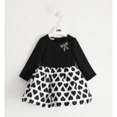 IDO Dievčenské šaty so saténom čierne IDO-IDO