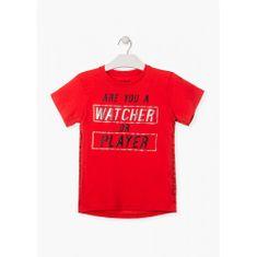 Losan Chlapčenské tričko s potlačou červené LOSAN-LOSAN