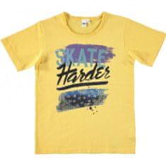 IDO Chlapčenské tričko žlté s motívom IDO-IDO