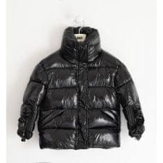 IDO Dievčenská lesklá nylonová bunda čierna IDO-IDO