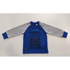 IDO Chlapčenské tričko modro-sivé s nápisom IDO-IDO