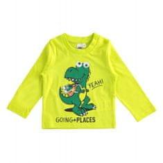 IDO Chlapčenské tričko s dinosaurom neónové zelené IDO-IDO