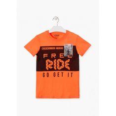Losan Chlapčenské tričko s 3D záplatou oranžové LOSAN-LOSAN
