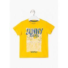 Losan Chlapčenské tričko s letným motívom žlté LOSAN-LOSAN