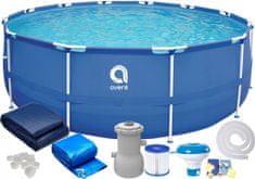 avenli Záhradný bazén s kovovou konštrukciou 366x76 SADA 9v1 s filtráciou