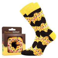 Lonka Super plecháček Lonka Veselé ponožky Donut žlutá Velikost: 38 - 41