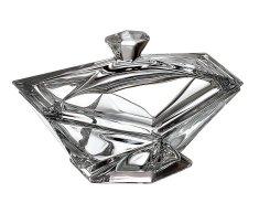 Crystalite Bohemia Crystalite Bohemia skleněná dóza Origami 16 cm
