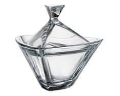 Crystalite Bohemia Crystalite Bohemia skleněná dóza Triangle 18 cm
