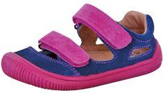 Protetika dievčenské barefoot sandále Berg blue