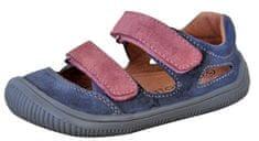 Protetika dievčenské barefoot sandále Berg grigio