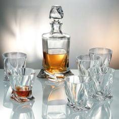 Crystalite Bohemia Crystalite Bohemia křišťálový whisky set Quadro (1+6)