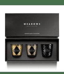 Meadows Vonné svíčky Meadows Meadows dárková sada vonných svíček Shadow Dance 3 x 80 g