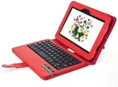 """Fortress Protect PT144 - Amazon Kindle Fire HD 2.gen 7"""" - červené, stojánek, bluetooth, klávesnice"""