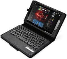 """Fortress Protect PT143 - Amazon Kindle Fire HD 2.gen 7"""" - černé, stojánek, bluetooth, klávesnice"""