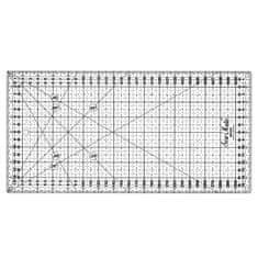 Texi Rastrové pravítko pro patchwork 16x32cm, černé TEXI 4065
