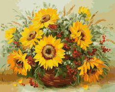 Gaira® Malovanie podľa čísel Slnečnica M1304