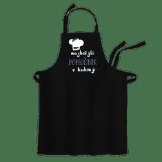 Cyber print shop Predpasnik s potiskom Najboljši pomočnik v kuhinji