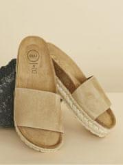 OJJU béžové dámské semišové pantofle
