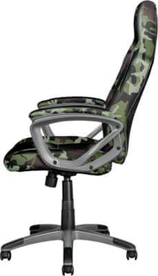 Herní židle Trust GXT 717 Rayza, barevné RGB LED podsvícení, dálkový ovladač, power banka