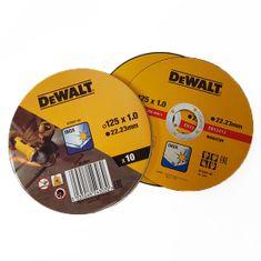 DeWalt Sada10 ks řezných kotoučů 125x1,0x22,23 mm na nerez