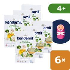 Kendamil Jemná bezlepková kaša s brokolicou, karfiolom a syrom (6x 150 g)