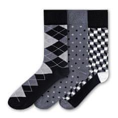 3 PACK - férfi zokni FSA459