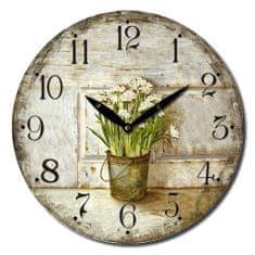 Isabelle Rose Nástěnné hodiny Narcissus 15 cm
