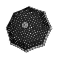 Doppler Dámský skládací deštník Black&white 7441465BW04