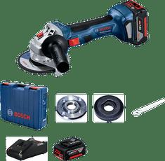 Bosch  GWS 180-LI aku úhlová bruska 2 x 4.0 Ah + GAL 18 V-40