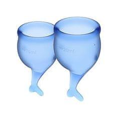 Satisfyer Feel Secure Dark Blue (15ml + 20ml), menstruační kalíšky set
