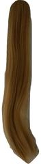 Vipbejba Syntetický cop so štipcom, rovný, tmavé blond pramene F39