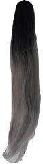 Vipbejba Sintetični čop na špango, raven, ombre črno-sive S1