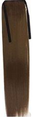 Vipbejba Syntetický cop s upevnením na suchý zips a clip-in, rovný, farba svetlohnedá F6