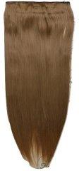 Vipbejba Flip-in/neviditeľné syntetické predĺženie vlasov, rovné, farba tmavá blond 18TT27