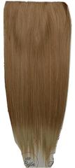 Vipbejba Flip-in/neviditeľné syntetické predĺženie vlasov, rovné, farba svetlá blond s hnedými prameňmi F16
