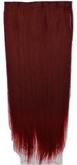 Vipbejba Flip-in/neviditelné syntetické prodloužení vlasů, rovné, barva červené víno F38