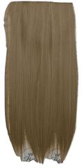 Vipbejba Flip-in/neviditeľné syntetické predĺženie vlasov, rovné, farba tmavé cappuccino F7