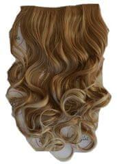 Vipbejba Flip-in/neviditeľné syntetické predĺženie vlasov, kučeravé, svetlé blond pramene F15